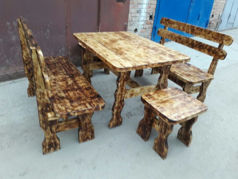 столы, лавки из натурального дерева для дачи и бани