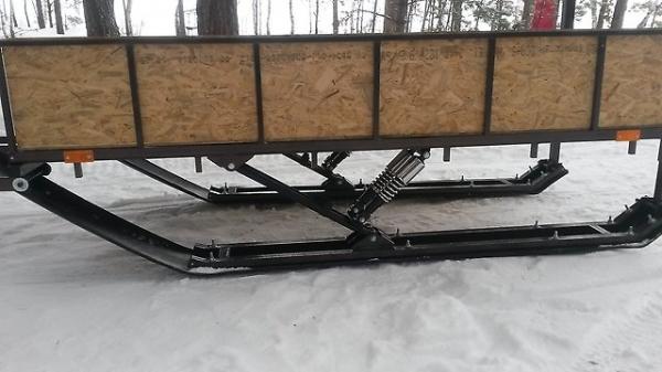 Как сделать лыжи для саней на снегоход