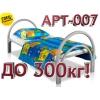 АРТ-007 Кровать металлическая (двойное усиление каркаса, увеличенный диаметр тру