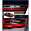 Наклейки на пороги для Hyundai Solaris (Хендай Солярис)