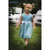 Нежное платье в голубых тонах для девочки