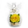 Розы оранж, желтые и кремовые в стекле в вакууме натуральные