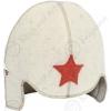"""Шляпа для бани детская """"Буденовка"""" белая"""