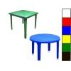 Столы пластиковые для кафе (квадратные, круглые)
