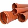 Труба и фитинги ПВХ для наружной канализации DN 110 160 200 250 315 400 500, клей TANGIT