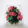 Розы розовые живые в вакууме